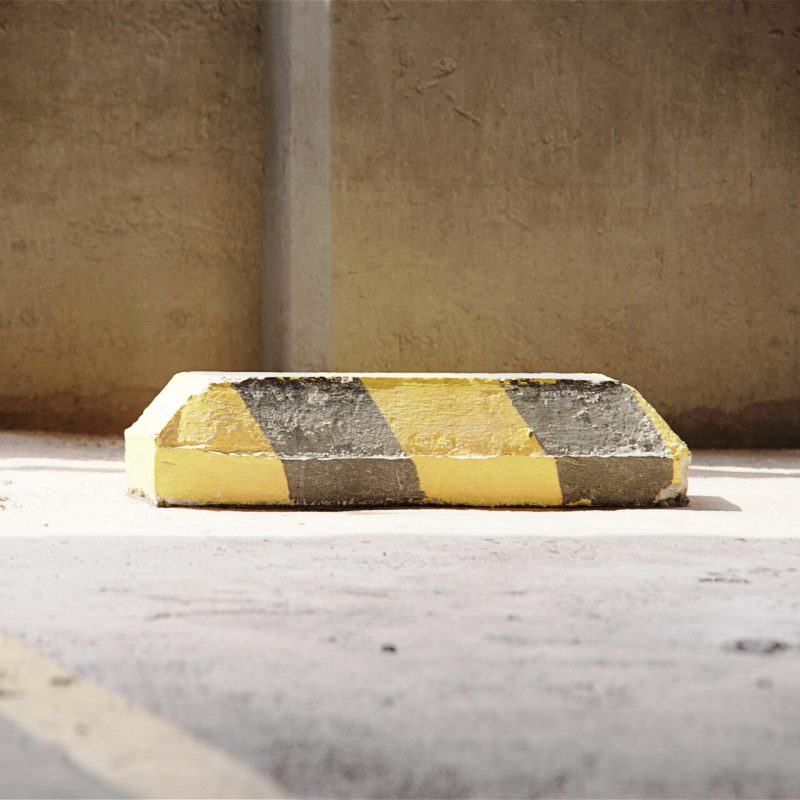 The image shows a cement curb made using Friendly Shade textures