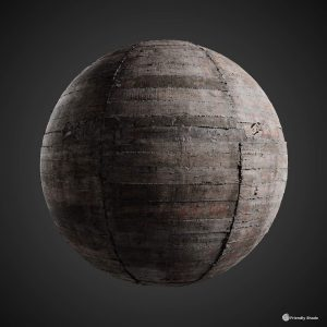 The image shows a sphere with our board formed bare concrete texture