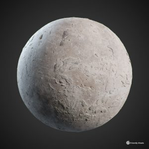 The image shows a sphere with our Rough Concrete texture